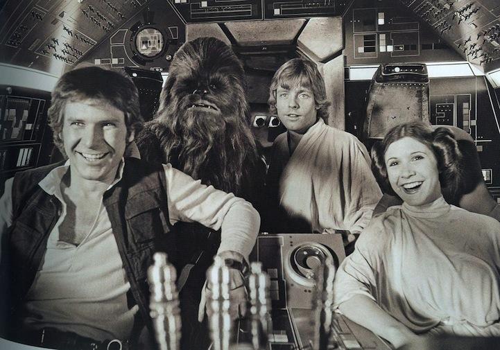 Posádka Star Wars se směje Darth Vaderovým vtipům