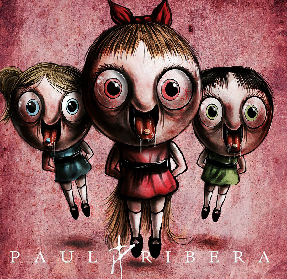 90s-cartoon-characters-drug-addicts-drawings-paul-ribera-2