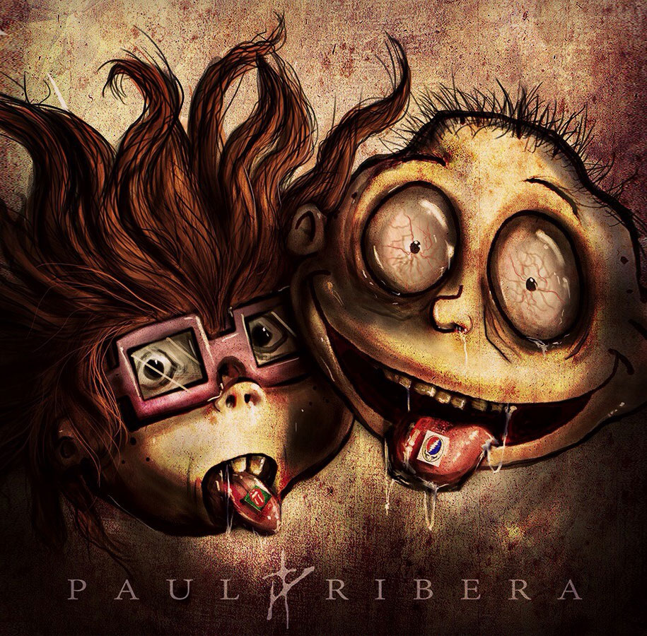 90s-cartoon-characters-drug-addicts-drawings-paul-ribera-4
