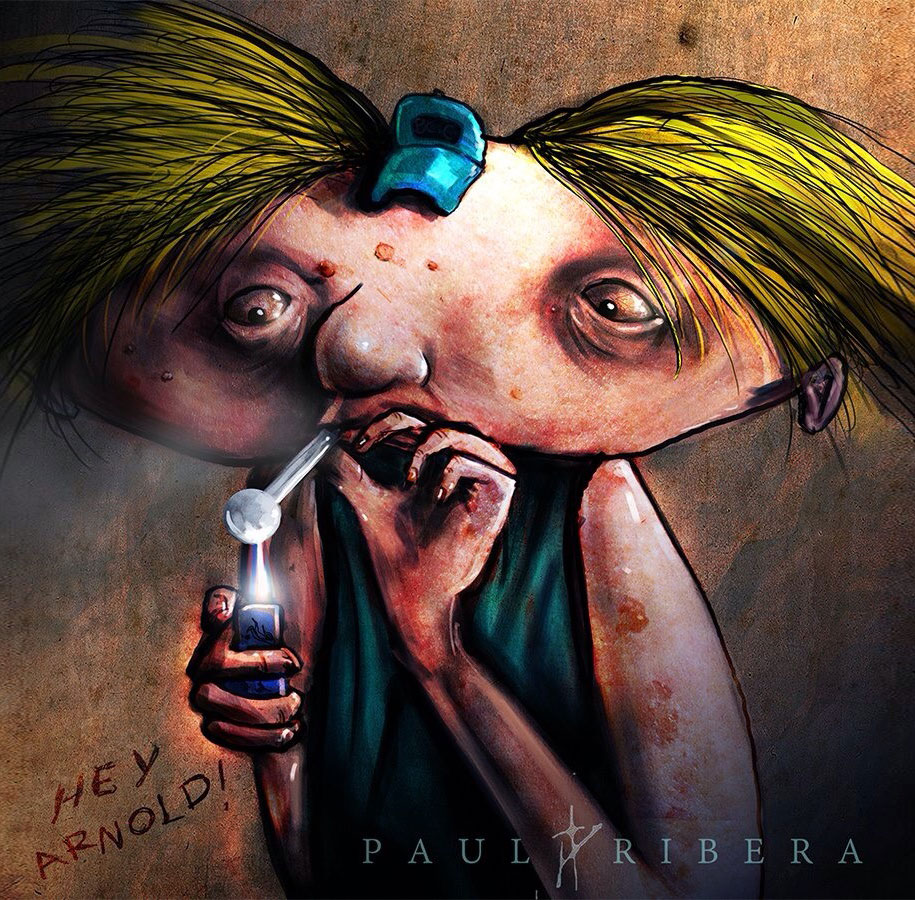 90s-cartoon-characters-drug-addicts-drawings-paul-ribera-5
