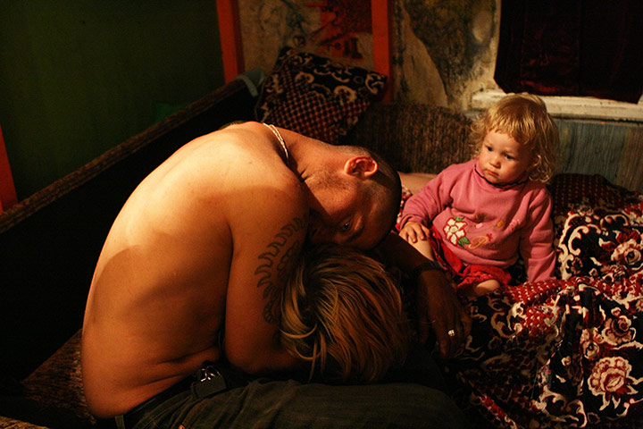 Russian Family: Lilya, Pasha and daughter Pasha