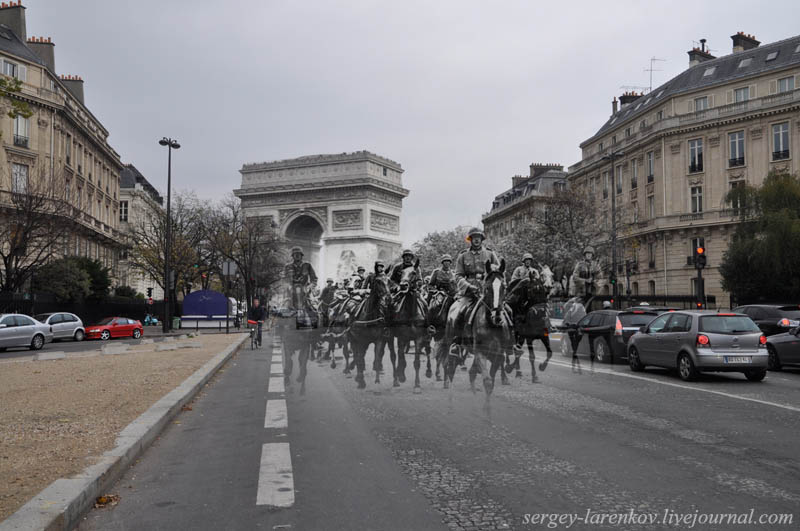 paris-1940-2010-german-cavalry-on-the-avenue-foch
