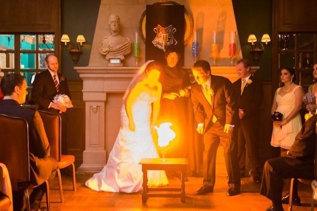 svatba oheň