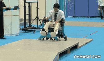 Invalidní vozík bez potíží sám zvládne schody