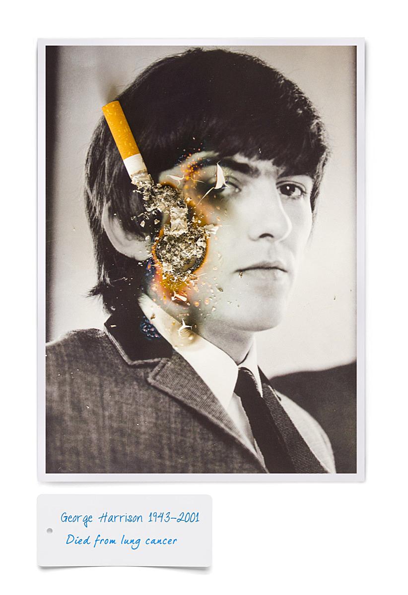George harrison cigarette