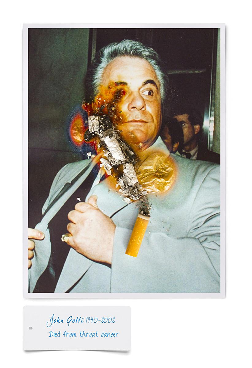 John Gotti smoking death