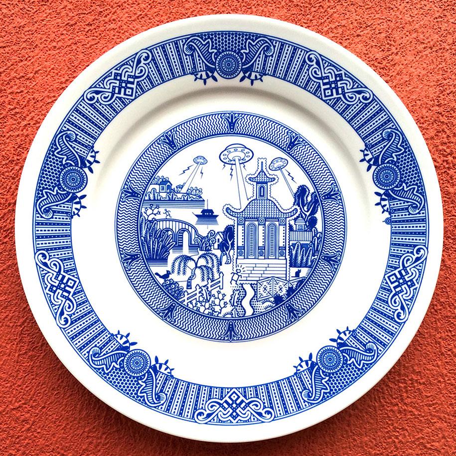 calamityware-blue-porcelain-plates-illustrations-don-moyer-1