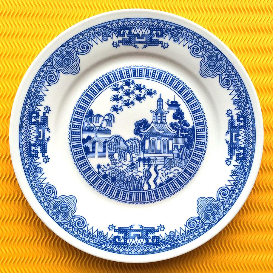 calamityware-blue-porcelain-plates-illustrations-don-moyer-3