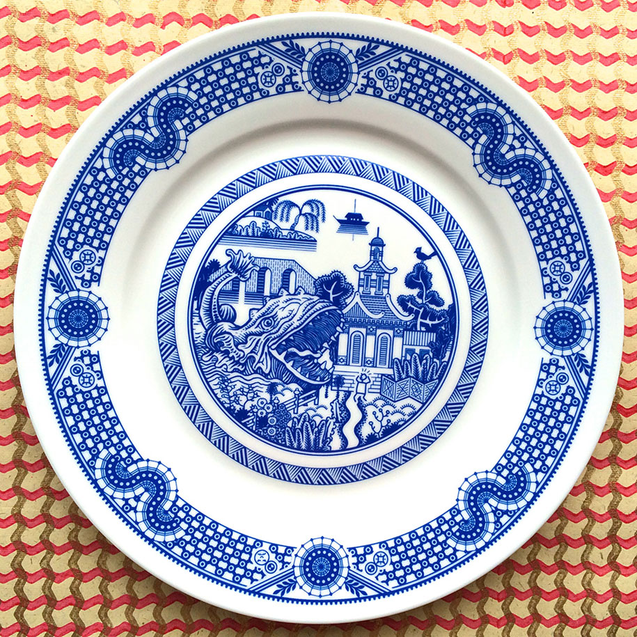 calamityware-blue-porcelain-plates-illustrations-don-moyer-4
