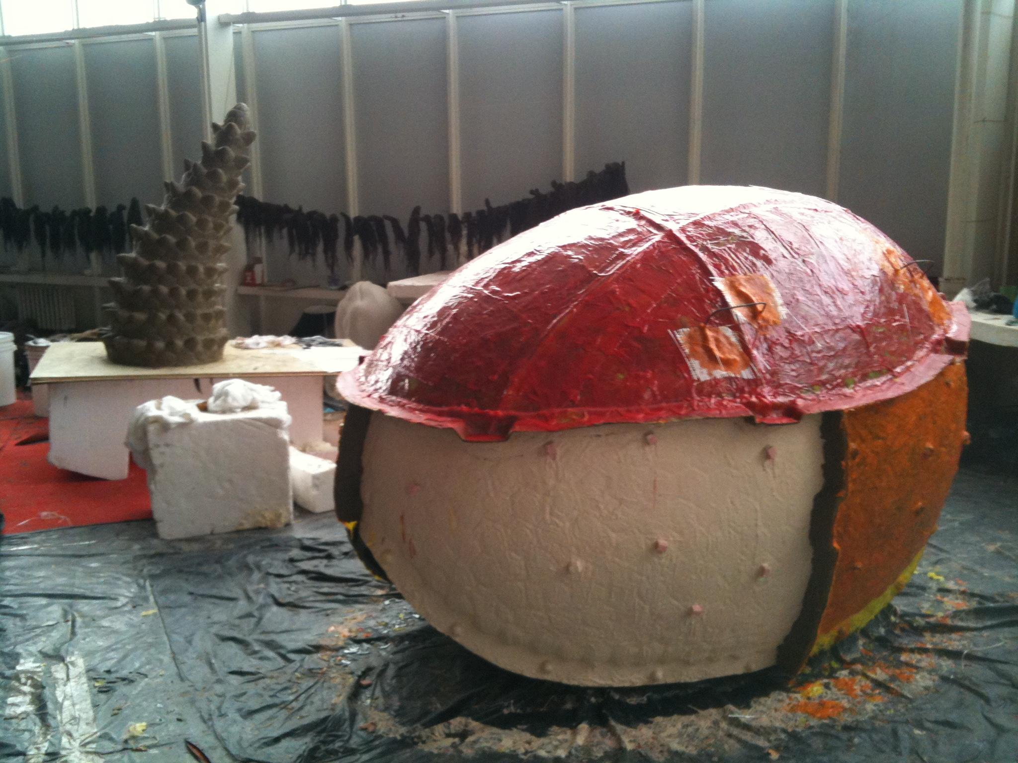 24. Glyptodon výroba formy