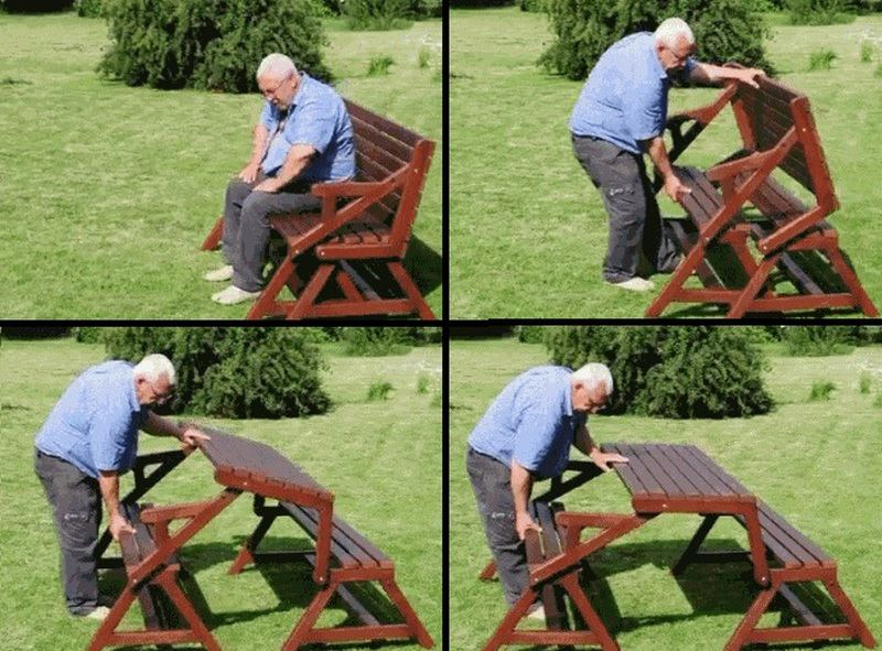 Creative-Ideas-DIY-Folding-Bench-and-Picnic-Table-Combo