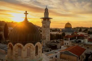 Jeruzalem zapad slunce