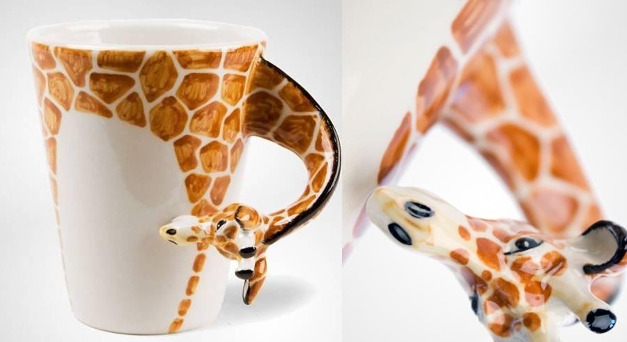 Ručně vyrobený hrnek s žirafou (Droold)