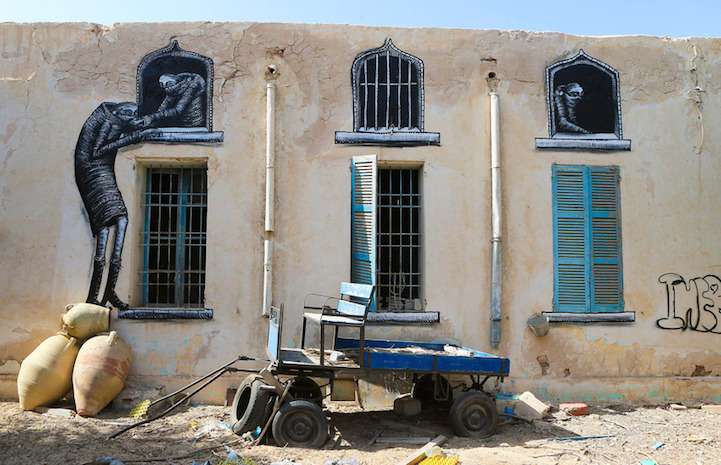 Street art project 'Djerbahood' in Erriadh