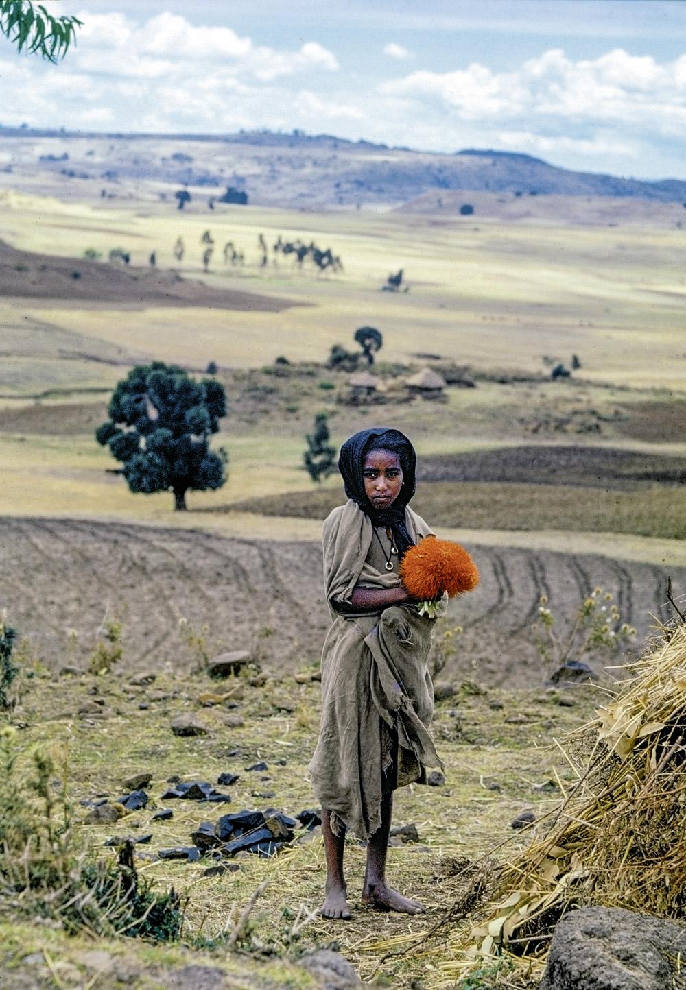 A survivor of the famine in Ethiopia, 1973.