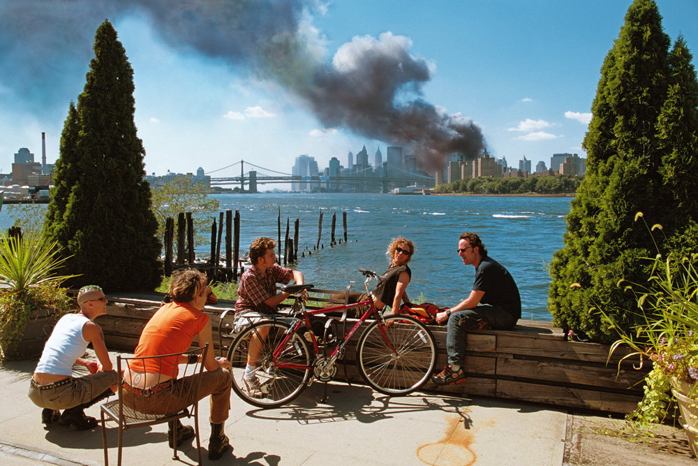 Hoepker's controversial photo taken on Sept. 11, 2001.