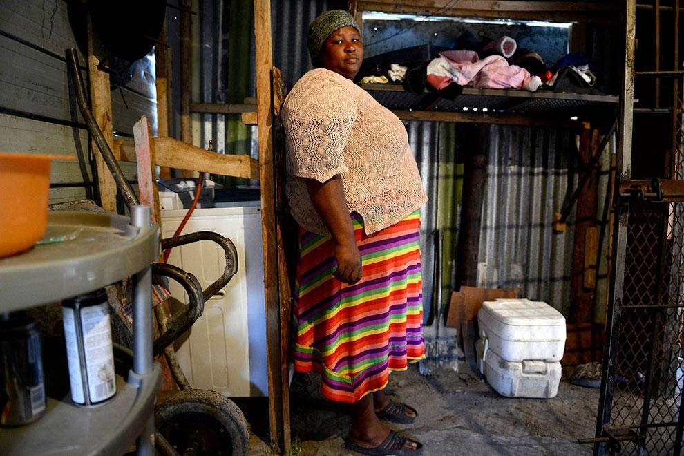 Jižní Afrika - přenosný záchod pro dvanáct lidí (Eric Miller)