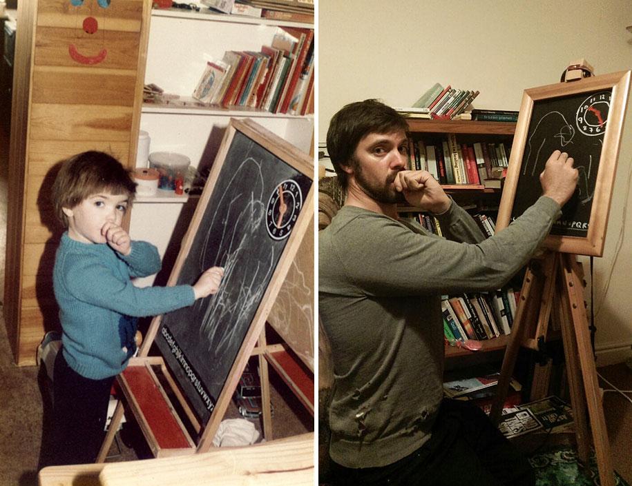 childhood-photo-recreation-parents-anniversary-gift-1