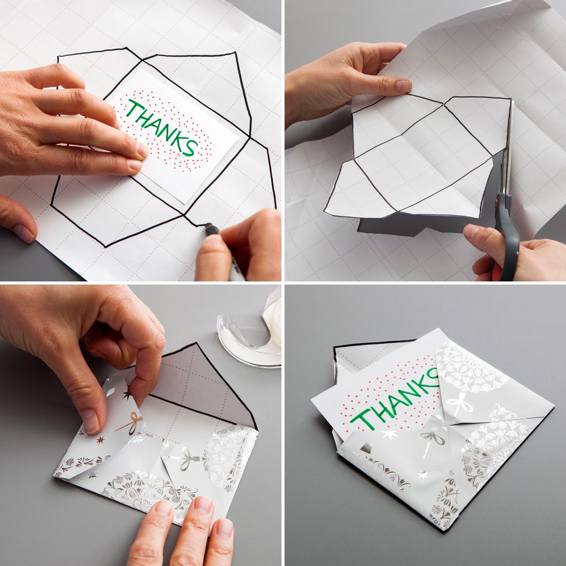 wrapping paper envelope