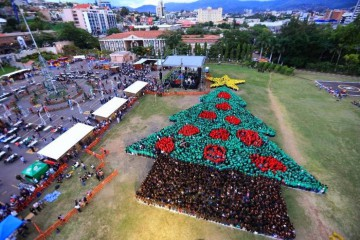 new Guinness world record for the largest human Christmas tree 3