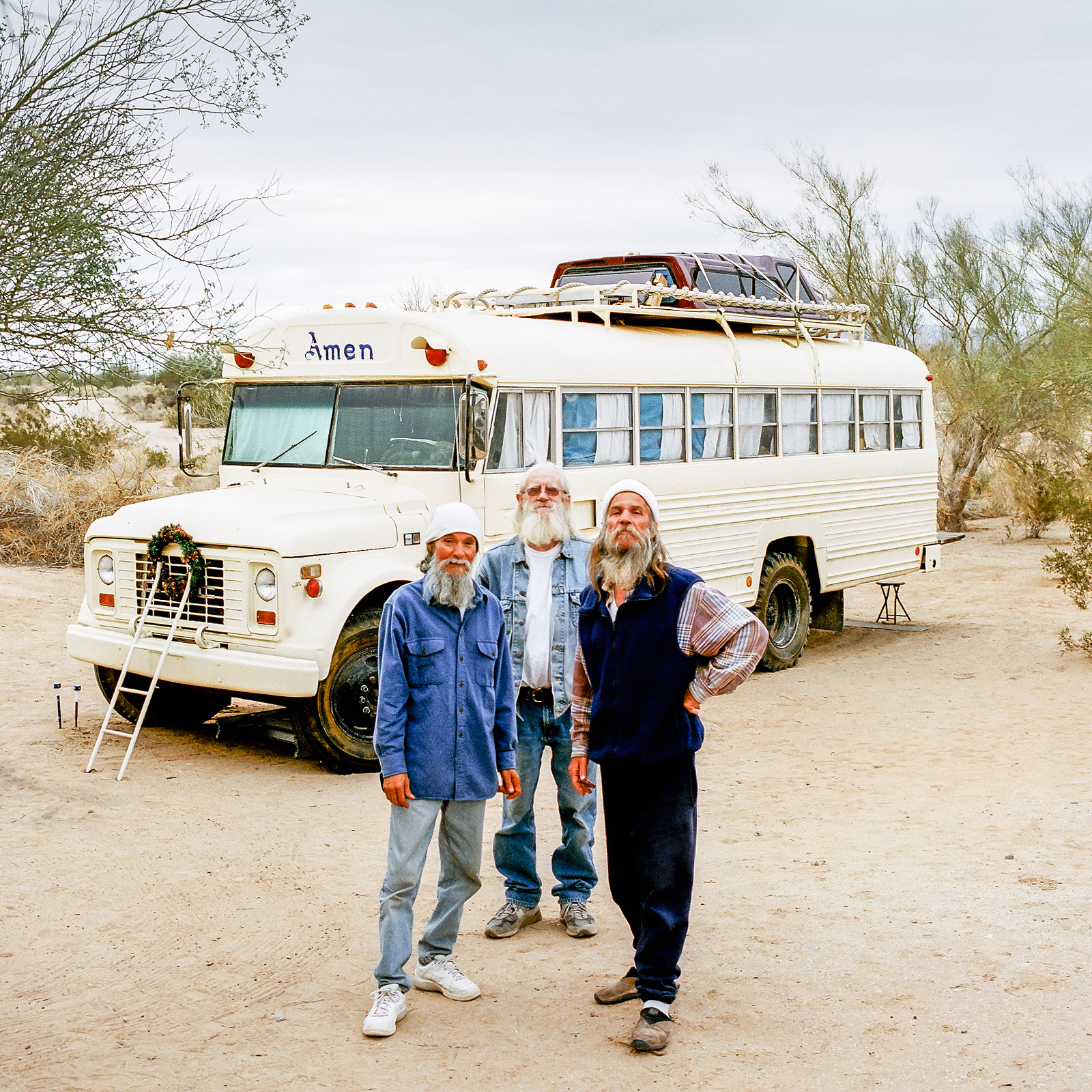 Jude, Juan a Nick, Slab City, Kalifornie, 2013
