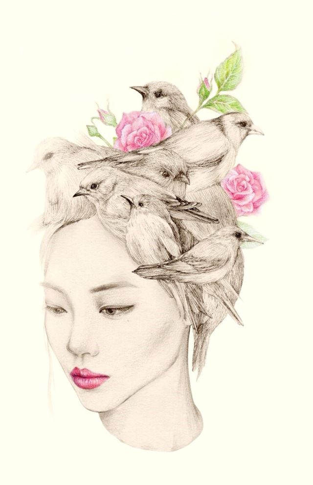 The-Girl-and-The-Birds-Drawings-1
