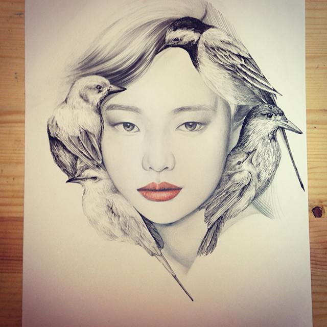 The-Girl-and-The-Birds-Drawings-2