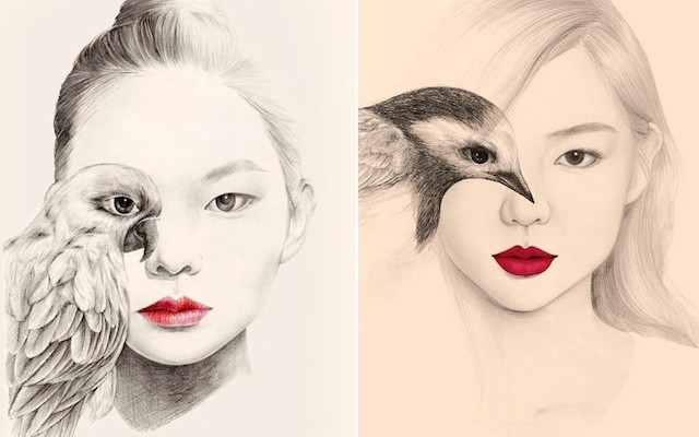 The-Girl-and-The-Birds-Drawings