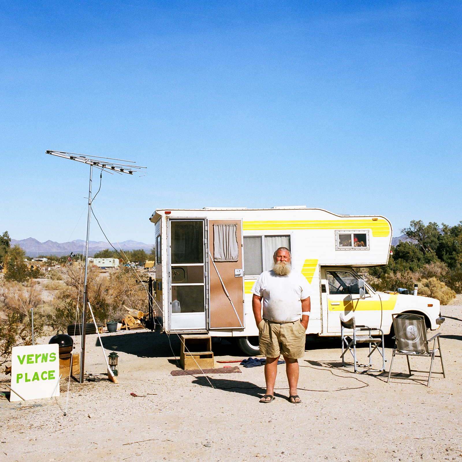 Vern, Slab City, Kalifornie, 2013