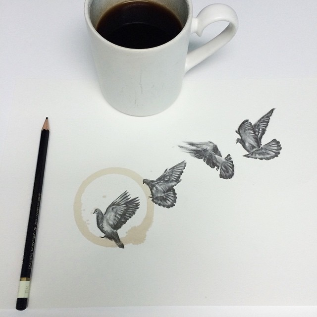 Pencil-Drawings-and-Coffee-Marks-141