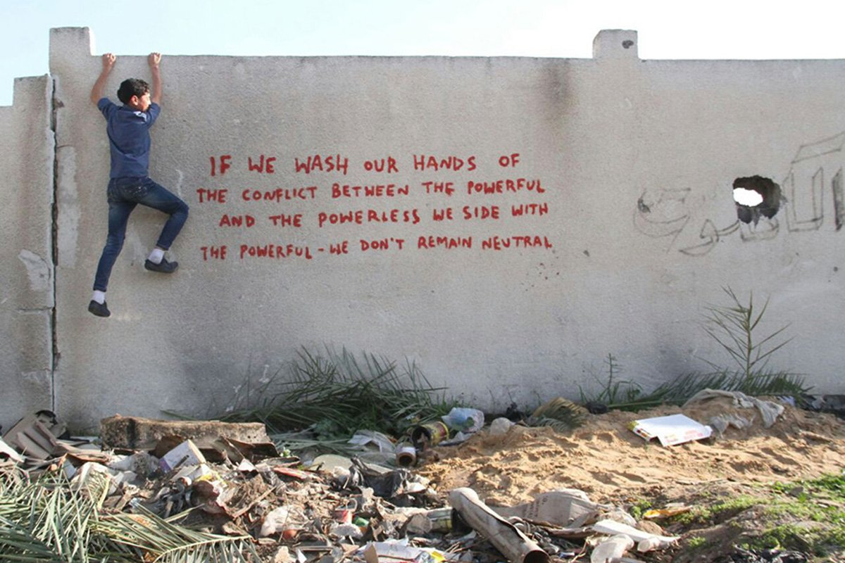 banksy-gaza-graffiti-if-we-wash-our-hands-powerless-powerful-Feb-2015