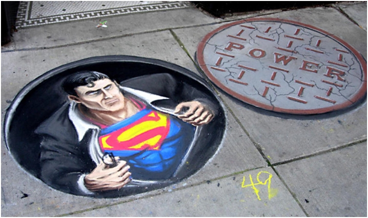 06-Chalk-Art-Superman