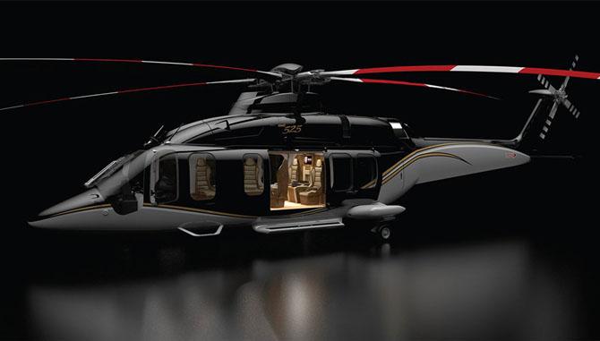 Luxusní vrtulník. Helikoptéra