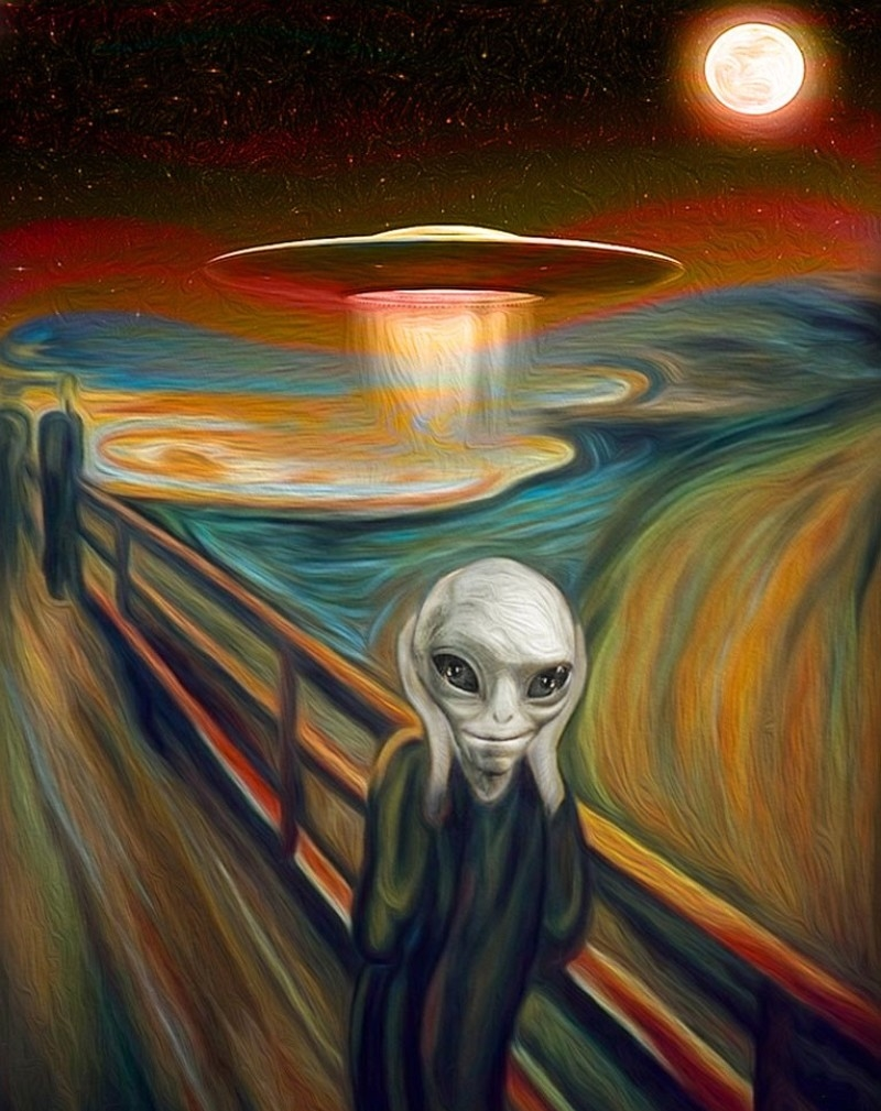 Alien-in-the-Scream-Painting-by-Munch--116743