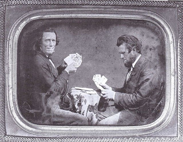 Ambrotype-self-portrait-of-Isaac-Wallace-Baker-playing-cards-c.-1853