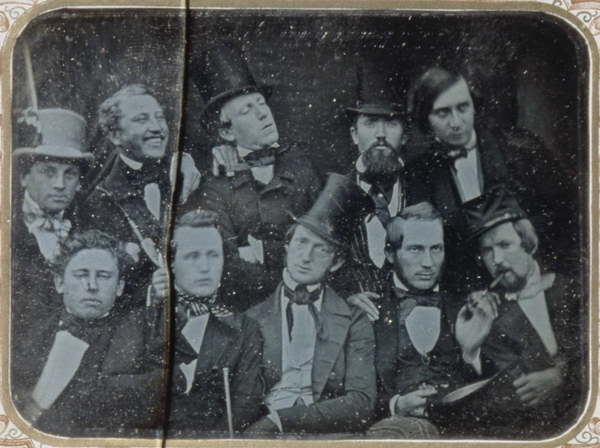 Daguerreotype-of-a-group-of-intellectuals-in-Oslo-Norway-c.-1850