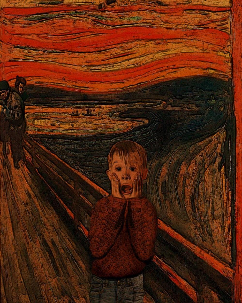 Macaulay-Culkin-in-the-Scream-Painting-79979