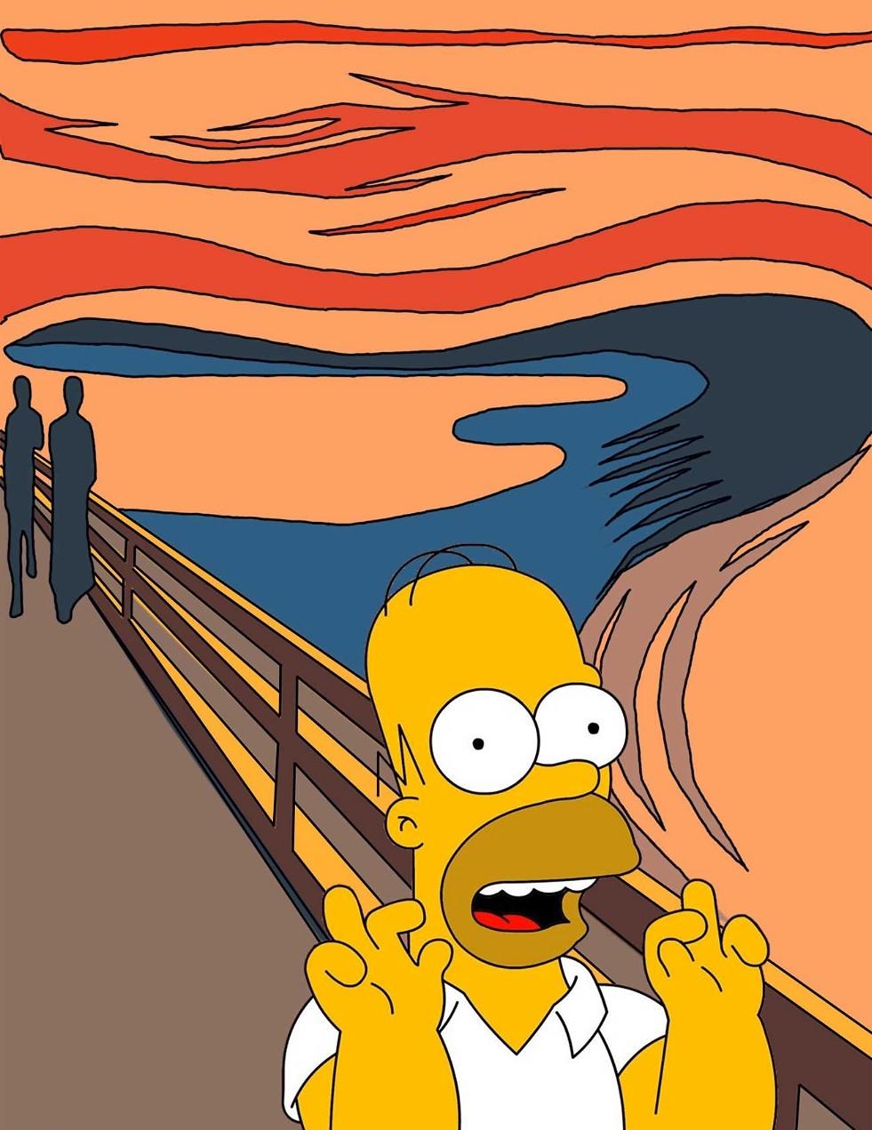 Screaming-Homer-Simpson-Painting-93190