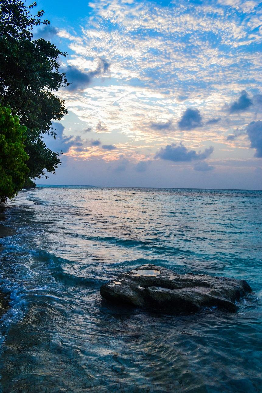 pláže, pobřeží,  Maledivy