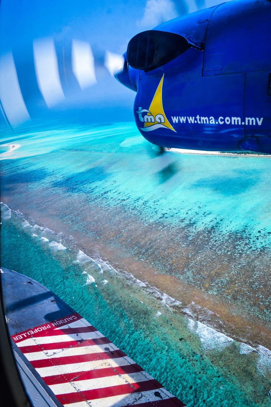 Seaplane, maledivy, atol