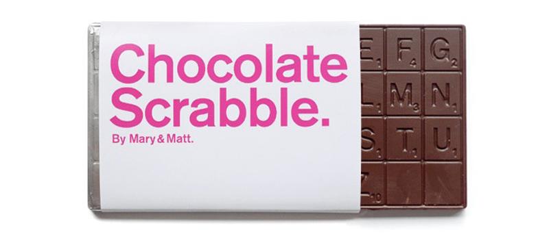 10 Čokoládový scrabble