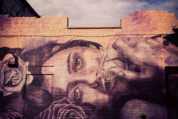 Rone street art Hanbury London