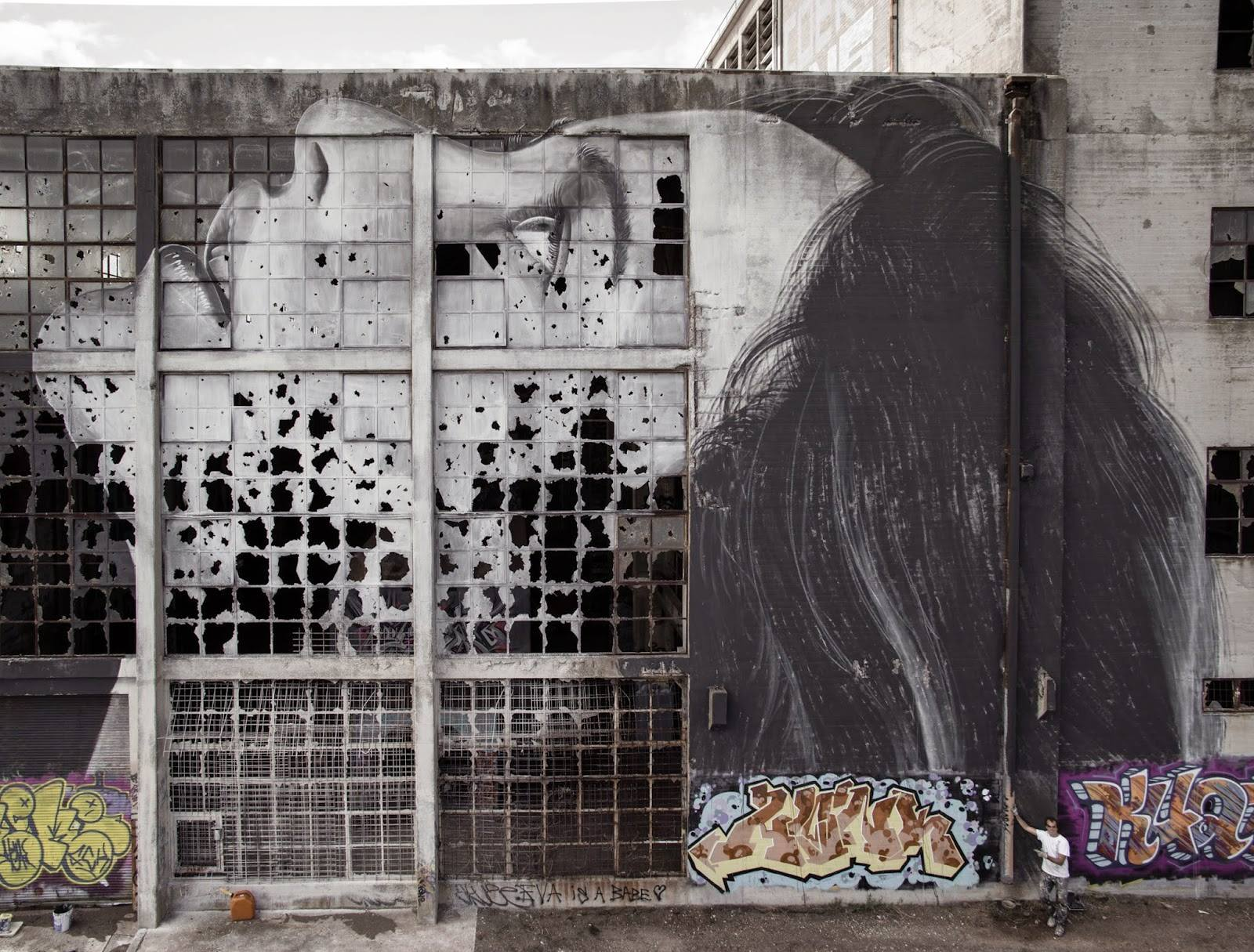 Rone street art Jane Doe Geelong