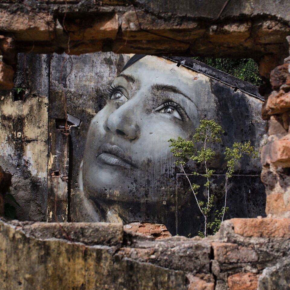 Rone street art Penang