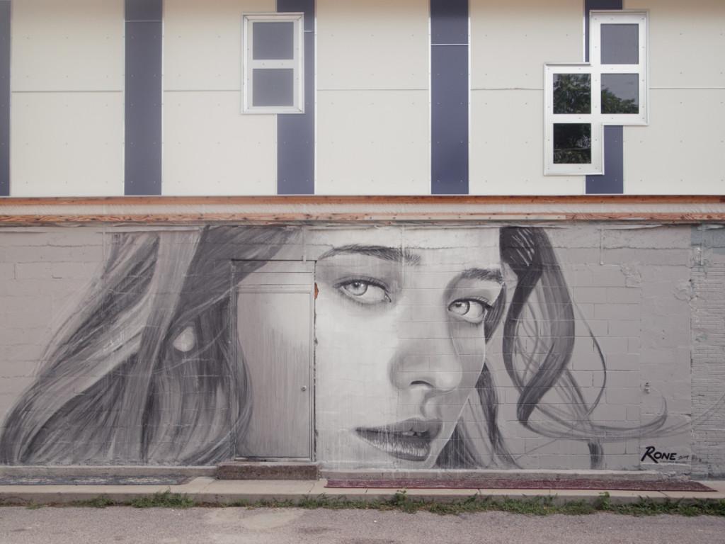 Rone street art Nashville