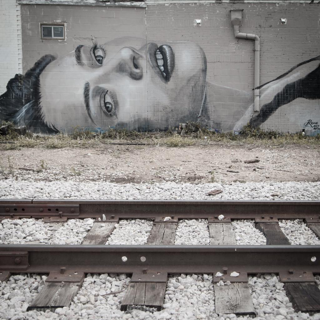 Rone street art Austin Texas