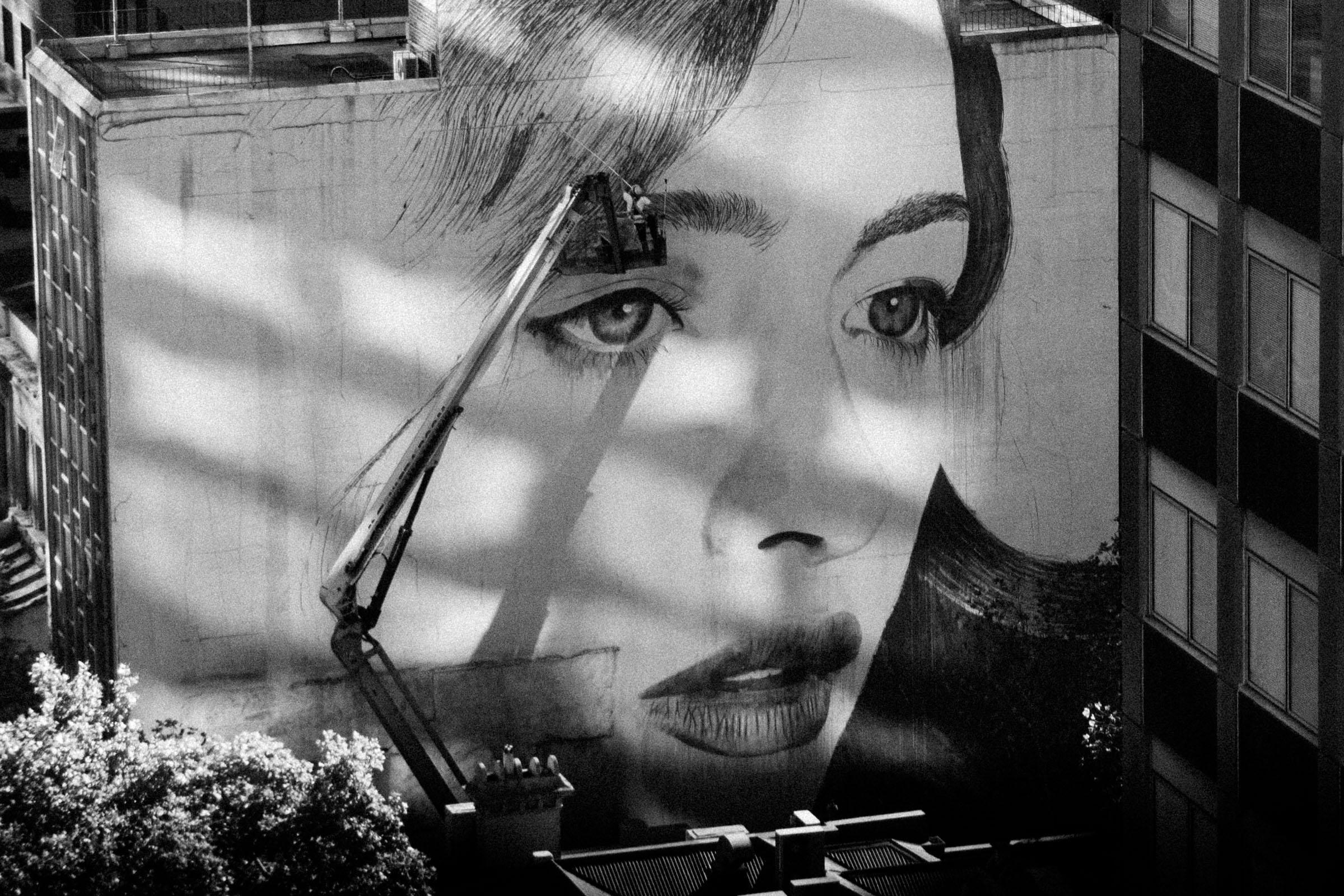 Rone street art Melbourne