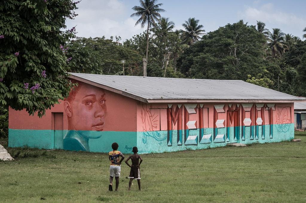 Rone street art Vanuatu