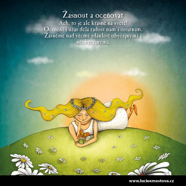 Lucie Ernestová inspirační karty Cesta k sobě Žasnout a oceňovat
