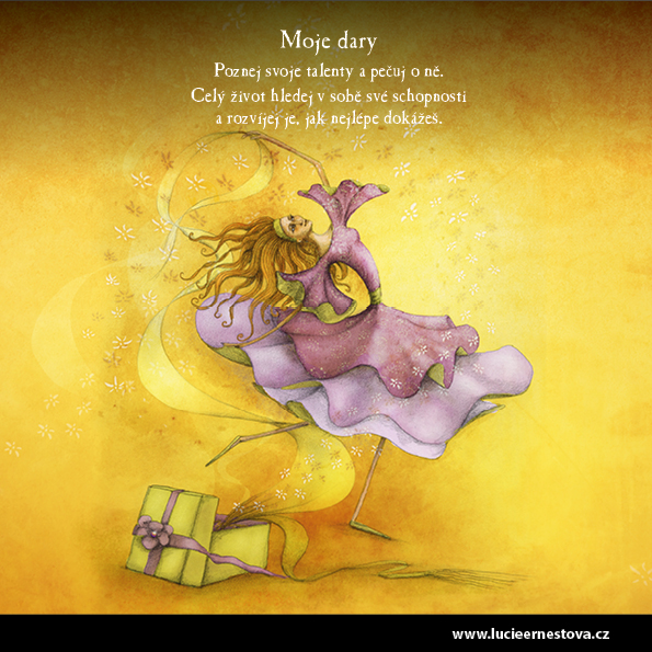Lucie Ernestová inspirační karty Cesta k sobě Moje dary